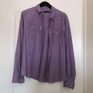 Dsquared Purple Denim Shirt